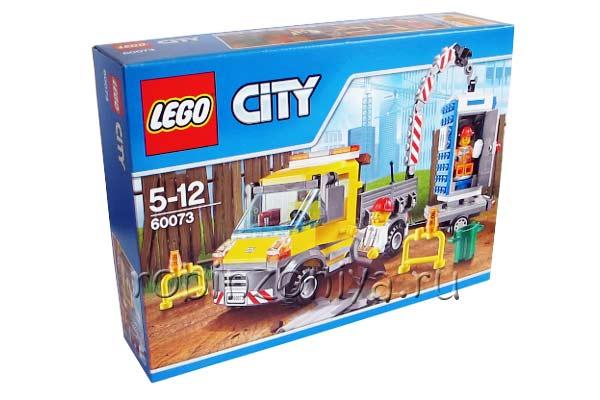 Конструктор Лего Сити 60073 Машина техообслуживания купить с доставкой по России в интернет-магазине robinzoniya.ru.