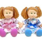 Мягкая поющая кукла Варенька в ситцевом платье,Lava Toys