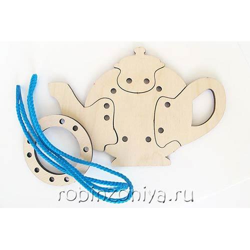 Шнуровка чайник от Оксва купить в интернет-магазине robinzoniya.ru.