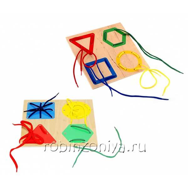 Шнуровка из дерева Геометрия от ЛЭМ купить с доставкой по России в интернет-магазине robinzoniya.ru.