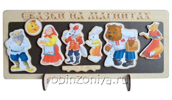 Сказки на магнитах Колобок (деревянные) купить в интернет-магазине robinzoniya.ru.