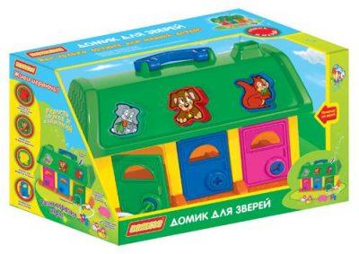 Домик для зверей в коробке