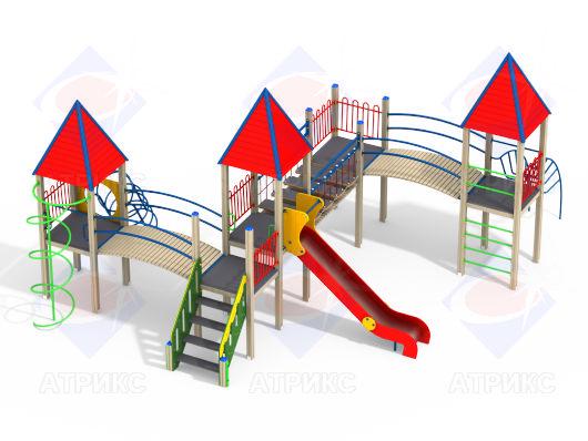 Детский игровой комплекс 4.13 купить в Воронеже в интернет-магазине robinzoniya.ru.