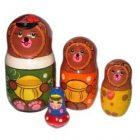 Матрешка Три медведя 4 персоны
