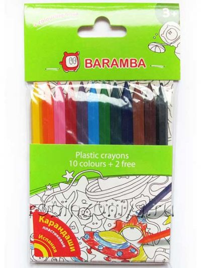 Карандаши пластиковые 12 цветов Baramba