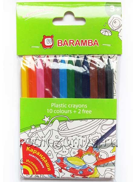 Пластиковые карандаши 12 цветов Baramba купить в интернет-магазине robinzoniya.ru.