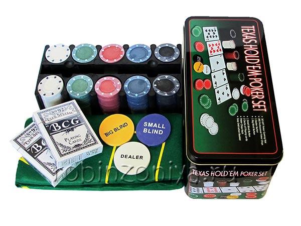 Набор для покера на 200 фишек Holdem Light купить в Воронеже в интернет-магазине robinzoniya.ru.