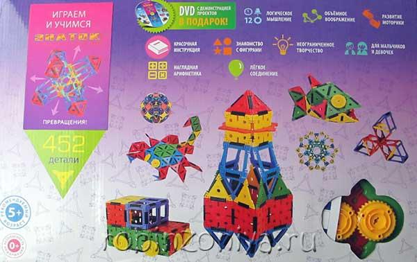 Необычный конструктор Знаток Кликко 452 детали купить с доставкой по России.купить в интернет-магазине robinzoniya.ru.