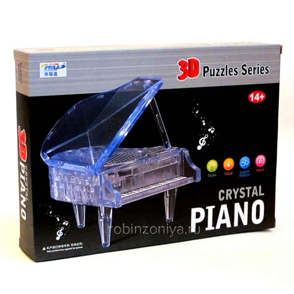 Объемная головоломка Рояль от 3d Crystal Puzzle купить с доставкой по России в интернет-магазине robinzoniya.ru.