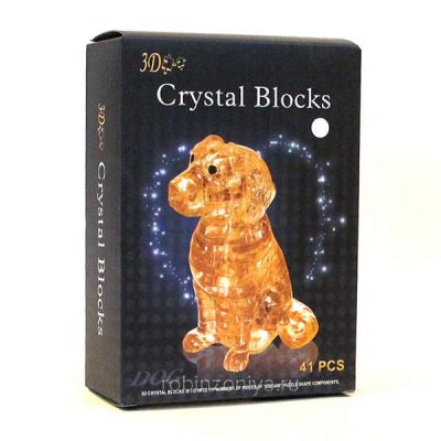 3d Crystal Puzzle головоломка Собачка