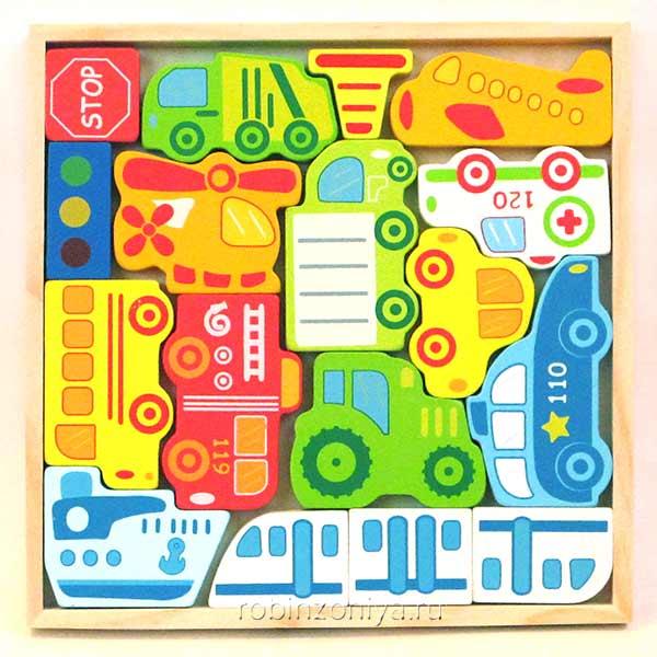 Игровой набор Транспорт Viga купить в интернет-магазине robinzoniya.ru.