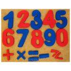 Набор цифр на ковролине