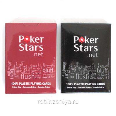 Карты покерные Poker Stars 100% пластик