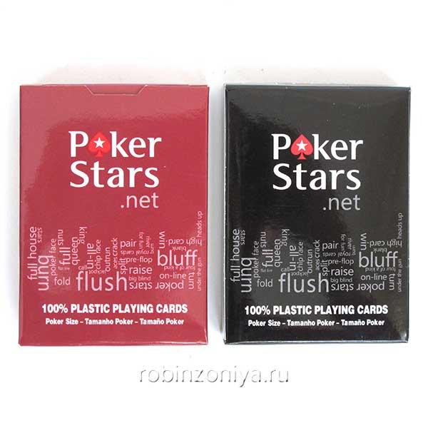 Карты покерные Poker Stars 100% пластик купить в интернет-магазине Робинзония.
