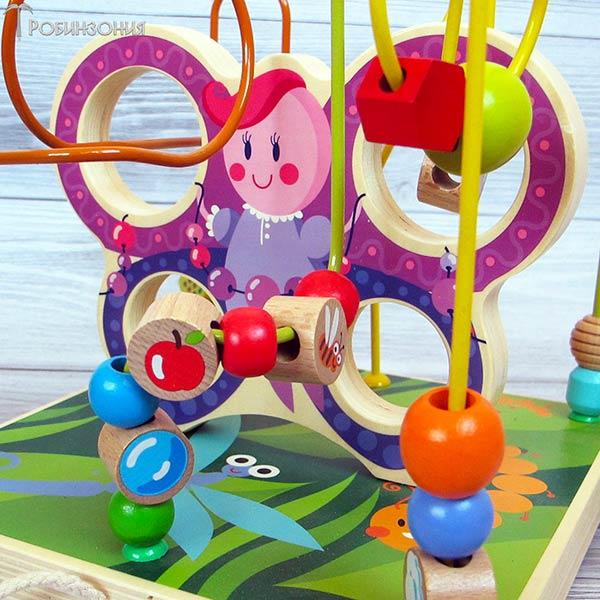 Лабиринт Бабочка,Мир деревянной игрушки