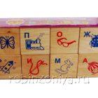 Кубики Алфавит с рисунками, 8 штук