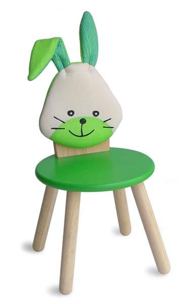 Стул для вечеринки, Животное/Зайчик (зеленый)