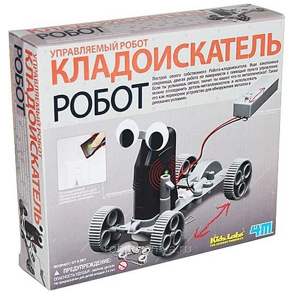 Конструктор 4M Управляемый робот кладоискатель купить в интернет-магазине Робинзония.