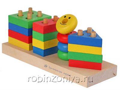 Пирамидка Геометрик, Краснокамская игрушка
