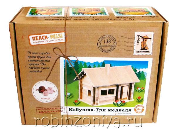 Деревянный конструктор Избушка Три медведя с куклами от Пелси купить в интернет-магазине robinzoniya.ru.