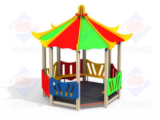 Домик беседка Пагода МФ 5.21 для детской площадки купить в Воронеже в интернет-магазине robinzoniya.ru.