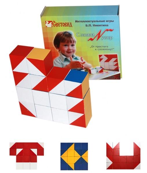 Деревянные кубики Сложи узор в картонной коробке купить в интернет-магазине robinzoniya.ru.