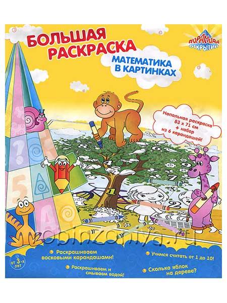 Напольная раскраска для детей Математика купить в интернет-магазине robinzoniya.ru.
