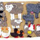 Игры из ковролина Домашние животные