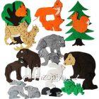 Игры из ковролина Дикие животные