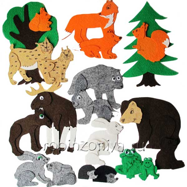 Игры из ковролина Дикие животные купить с доставкой по России в интернет-магазине robinzoniya.ru.