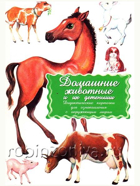 Купить дидактические карточки Животные и их детеныши в интернет-магазине robinzoniya.ru.