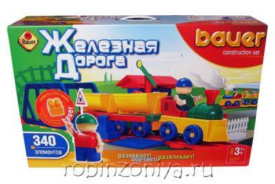 Конструктор Кроха Железная дорога 340 деталей от Бауэр (Bauer)