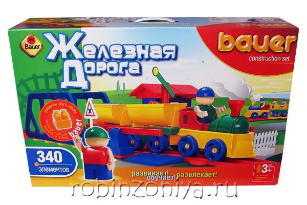 Конструктор Кроха Железная дорога 340 деталей купить с доставкой по России в интернет-магазине robinzoniya.ru.