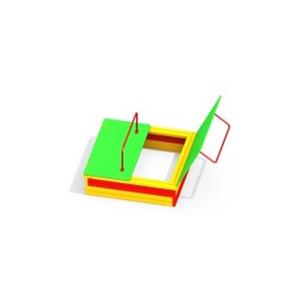 Песочница с крышкой 4006-2