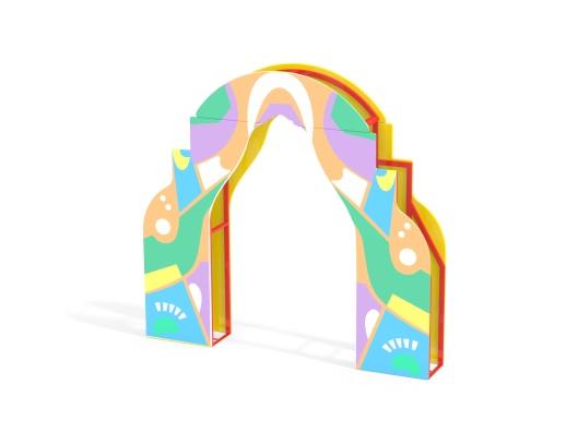 Входная арка графити МФ 7.221 купить в Воронеже в интернет-магазине robinzoniya.ru.