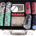Набор для покера Black Stars 200 фишек, черный кейс