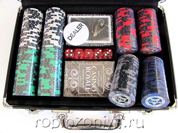 Набор для покера Black Stars 200 фишек купить в Воронеже в интернет-магазине robinzoniya.ru.
