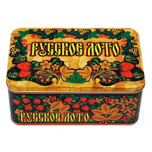 Русское лото в жестяной коробке купить с доставкой по России.