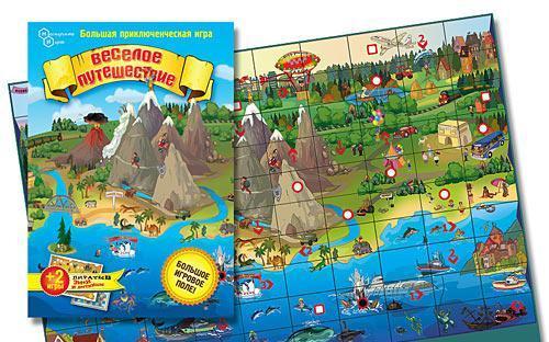 Настольная игра для детей Веселое путешествие купить в интернет-магазине robinzoniya.ru.