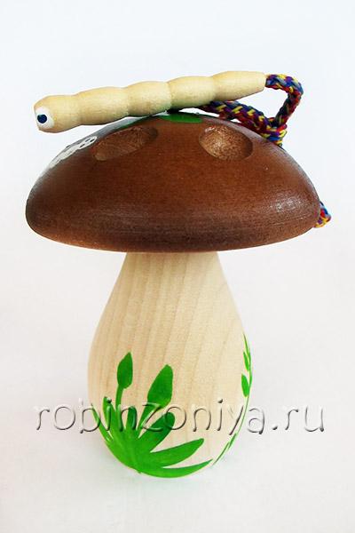 Развивающая игрушка деревянная шнуровка для детей Гриб расписной купить с доставкой по России в интернет-магазине robinzoniya.ru.