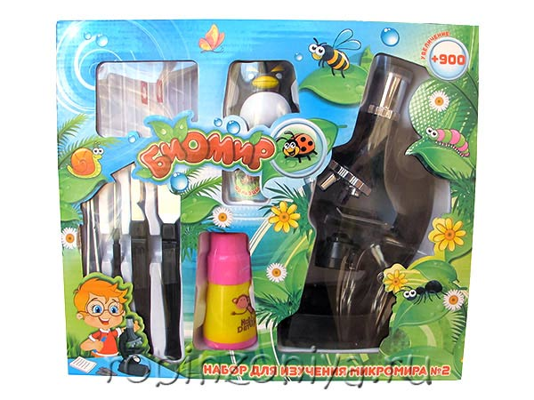 Недорогой детский микроскоп с набором для опытов купить с доставкой по России в интернет-магазине robinzoniya.ru.