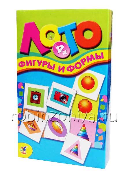 Развивающая игра Лото детское Фигуры и формы купить с доставкой по России в интернет-магазине robinzoniya.ru.