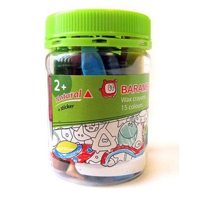 Baramba Восковые треугольные карандаши 15 цветов