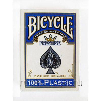 Пластиковые карты для покера Bicycle Prestige, 100% пластик, увеличенный индекс