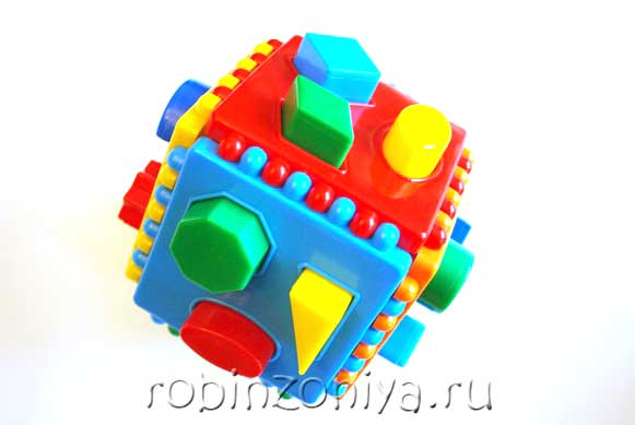 Сортер Логический куб купить в интернет-магазине robinzoniya.ru.