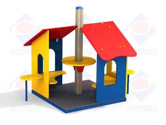 Домик беседка МФ 5.094 для детской площадки купить в Воронеже в интернет-магазине robinzoniya.ru.