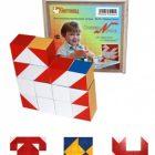 Кубики Сложи узор деревянные (фанерная коробка)