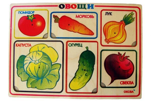 Рамка с вкладышами Овощи для обучения по Монтессори купить в интернет-магазине robinzoniya.ru.