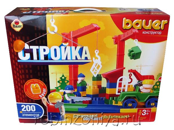 Конструктор Кроха Стройка 200 деталей купить с доставкой по России в интернет-магазине robinzoniya.ru.
