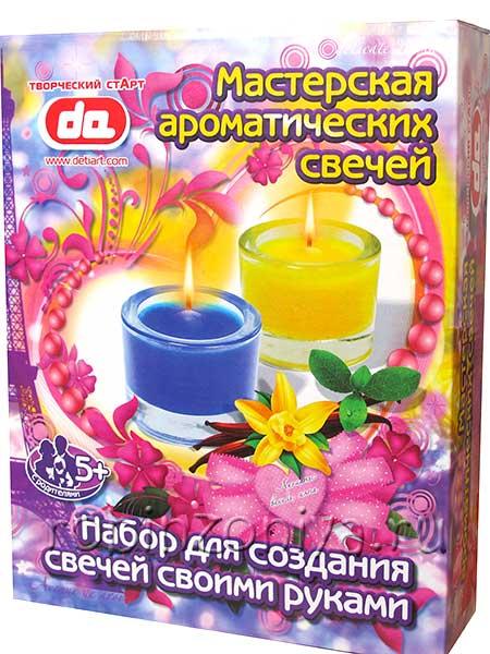 Мастерская ароматических свечей Ваниль, мята купить в интернет-магазине robinzoniya.ru.